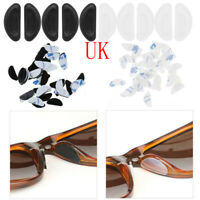 40 Silicone Stick On  Anti-Slip Nose Pads Tape Grips Gasket for Sunglass Glasses