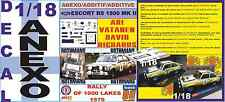 ANEXO DECAL 1/18 FORD ESCORT RS 1800 MK II ROTHMANS VATANEN 1000 LAKES 1979 (06)