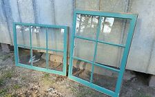 VINTAGE SASH ANTIQUE WOOD WINDOW PICTURE FRAME PINTEREST 36x27 TURQUOISE 1 SASH
