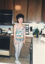 KITCHEN GIRL In Tights FOUND PHOTOGRAPH Color FREE SHIPPING Korean Woman 88 27 Q