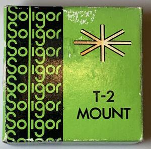 Vintage Soligor T-2 Mount To Fit Minolta 13-640 With Original Box (Untested)