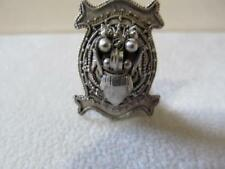 Vintage Antique Singapore Chinese Straits 900 Silver Dragon Lion Foo Dog Clip