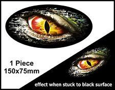Ovale fade to black mauvais œil monstre voyeur vinyle voiture camion autocollant decal 150mm