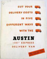 AUSTIN 101 Van Original Commercial Sales Brochure 1959 #1414/A