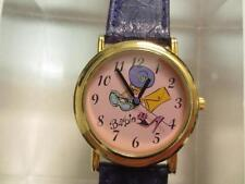 Mattel 35th Anniversary Barbie Doll Watch *Purple*Leather Band Japan Movt