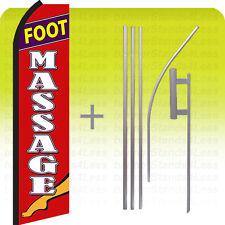 Foot Massage Swooper Flag Kit Feather Flutter Banner Sign 15' Set - rz