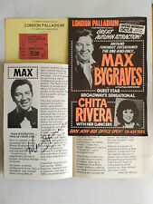 More details for max bygraves london palladium theatre programme flyer & ticket 1980 signed