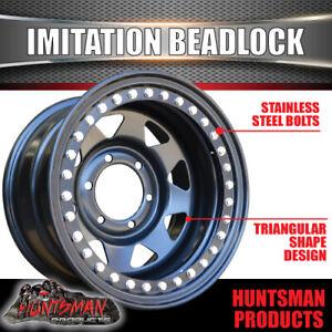 15X8 6/139.7 PCD -23 Offset Steel Imitation Beadlock Rim Stainless Bolts 8 spoke