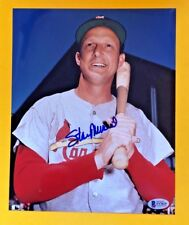 STAN MUSIAL SIGNED 8X10 ST LOUIS CARDINALS PHOTO BECKETT CERTIFIED
