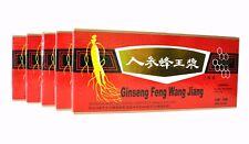 5 Boxes Ginseng Royal Jelly Oral Liquid Improves Stamina & Memory 5 x 10 Vials