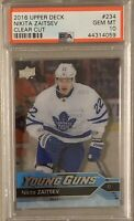 2016 2017 UPPER DECK Nikita Zaitsev PSA 10 CLEAR CUT YOUNG GUNS ROOKIE RC Gem