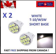 2X White Xenon LED T10 8SMD/5050/194Bulbs Light 68 W5W license Plate Short Base