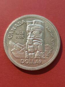 Canada 1958 Silver Dollar (800 Silver)