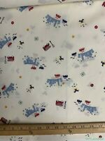 Vtg Baby Nursery Big City Lights on Creme High Quality Ctn Fabric -4 Masks Kids