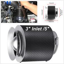"Carbon Fiber Look Hi-Flow Air Filter Work For Cold Air/Short Ram Intake 3"" Inlet"