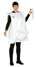 Toilet Man Funny Fancy Dress Costume Stag Joke Halloween Fancy Dress Urinal Roll