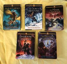 Heroes of Olympus Complete Hardcover Set Books 1-5 By Rick Riordan