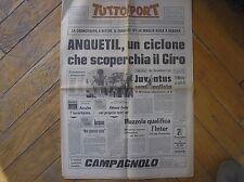 GIRO D'ITALIA CRONO VERONA A RITTER MAGLIA ROSA ANQUETIL TUTTOSPORT 5/6/1967