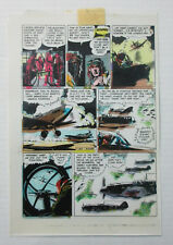 1986 World of Wallace Wood 3 original color guide art pg 2: Blazing Combat story