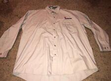 Mens Bob Allen Right Shooting Button-down Beige Shirt Long Sleeve Size XL Vented