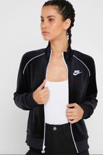 Nike Women's Size Medium Sportswear Velour Jacket  Black/White CJ4912-010  Nwts