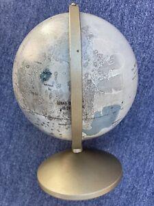 "Vintage 1960s/1970s Replogle 6"" Diameter Moon Globe with Metal Base"