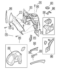 Genuine MOPAR Upper Load Path Beam Package Right 5003848AB
