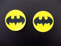12 PRE CUT EDIBLE RICE WAFER PAPER CARD BATMAN SUPERHERO CUPCAKE PARTY TOPPERS
