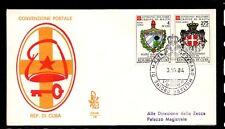 FDC SMOM convenzione postale con Cuba