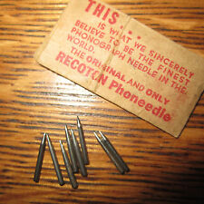 vintage 1930-40s RECOTON Phoneedle 10 Needles In Original Packaging Bag NOS