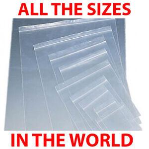 Grip Seal Bags Reclosable Zipper Bags PLAIN Various Sizes 100x