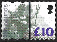 GB 1993 sg1658 £10 Britannia High Value School Training Stamp Vertical Bar MNH