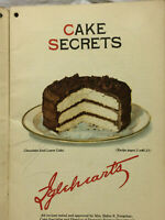 Vintage 1924 Booklet Cake Secrets Advertising Instant Swans Down Igleheart Bros.