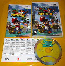NEW PLAY CONTROL MARIO POWER TENNIS Wii Versione Italiana Vip New ○○○○○ USATO