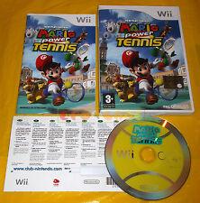 NEW PLAY CONTROL MARIO POWER TENNIS Wii Versione Italiana Vip New ○○○○○ USATO