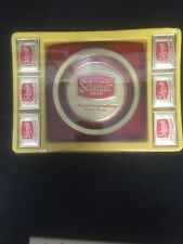 Schmidt Beer red Acrylic Ashtray and 6 matchboxes set still in package