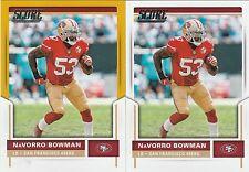 NaVorro Bowman SAN FRANCISCO 49ers 2017 SCORE GOLD RETAIL BLASTER & BASE #143