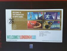 GB TALLENTS PMK FDC 2012 WELCOME TO OLYMPICS GAMES MINIATURE SHEET