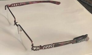 MARTINI Eyeglasses Frame - Brown Color Decorated CZ 55-10-140 Aristocratic style