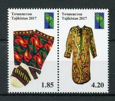 Tajikistan 2017 MNH Folk Crafts RCC Traditional Dress Costumes 2v Set Stamps