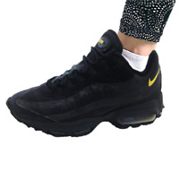 Nike Unisex AR4236-002 Air Max 95 Real Leather Low-Top Trainers black Size 7