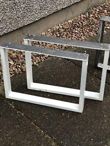 2 Box Section Retro Industrial Steel Metal Coffee Table Bench Legs 50cm X 40cm
