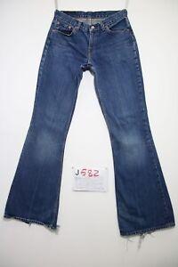 Levis 544 Flare Bootcut (Cod.J582) Tg.42 W28 L34 Jeans Utilisé Boyfriend Femme