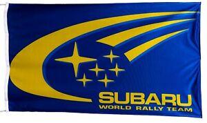 SUBARU-FLAG RALLY TEAM BLUE BANNER LANDSCAPE 5 X 3 FT 150 X 90 CM