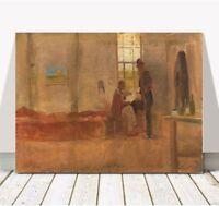 "CHARLES CONDER - Impressionists Camp CANVAS PRINT 16x12"" - Australian Art"