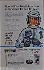 1963 SCHICK RAZOR advertisement, Astronaut, injector razor, space book offer