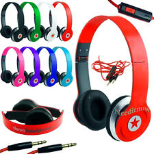 STEREO HEADPHONES DJ STYLE FOLDABLE HEADSET EARPHONE OVER EAR MP3/4 3.5MM