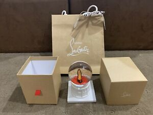 CHRISTIAN LOUBOUTIN VIP Gift - Christmas Shoe Crystal Snow Ball Snow Globes -new