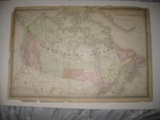 LARGE VINTAGE ANTIQUE 1889 BRITISH AMERICA now CANADA MAP ONTARIO QUEBEC RARE NR