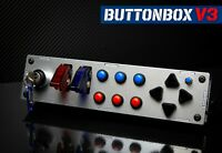 Button Box V3 + Set of stickers + Table Clamp / SIMRACING
